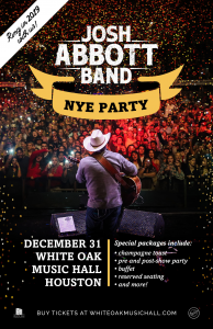 Live Music: NYE Josh Abbott Band @ White Oak Music Hall