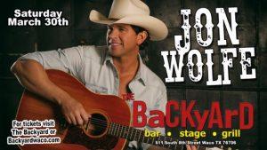 Live Music: Jon Wolfe @ Backyard Waco