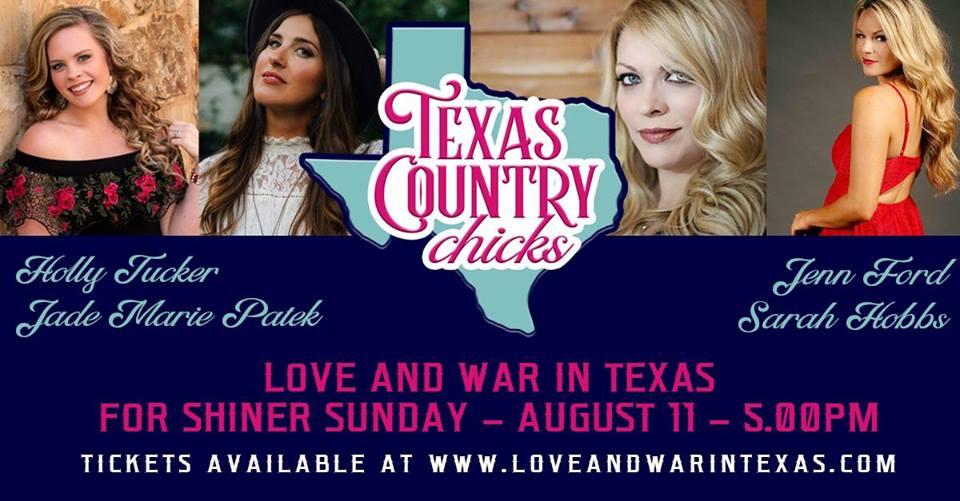 Texas Country Chicks with Holly Tucker/Jade Marie Patek/ Sarah Hobbs & Jenn Ford