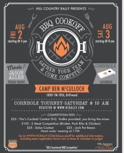 Jason Allen - Hill Country Rally for Kids BBQ Cook Off @ Camp Ben McCulloch