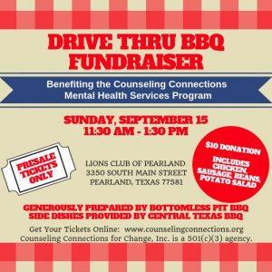 Drive Thru BBQ Fundraiser @ Lions Club of Pearland