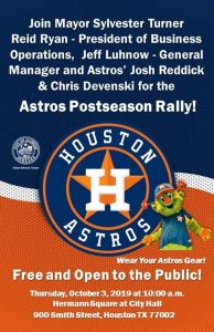 Astros Postseason Rally @ City Hall