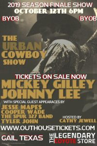 The Urban Cowboy Show with Mickey Gilley , Johnny Lee and Cooper Wade @ The Legendary Coyote Store
