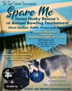 Texas Husky Rescue 1st Annual Bowling Tournament @ AMF Bowling (Lewisville Lanes)