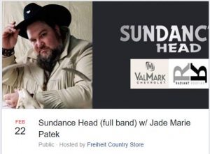 Sundance Head with Jade Marie Patek @ Freiheit Country Store
