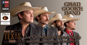 Chad Cooke Band - Texans Helping Texans Quarantine Concert Series @ Facebook Live & Instagram Live