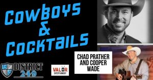 Cowboys & Cocktails with Cooper Wade and Chad Prather @ District 2.4.9 Bar & Grill