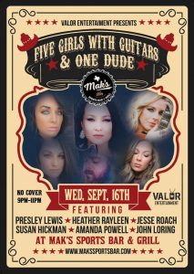 5 Girls with Guitars and 1 Dude @ Mak's Sports Bar