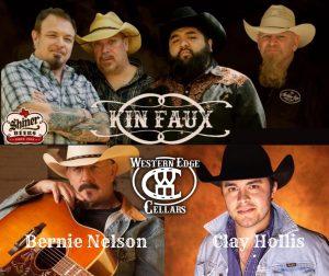 Kin Faux, Bernie Nelson And Clay Hollis @ Western Edge