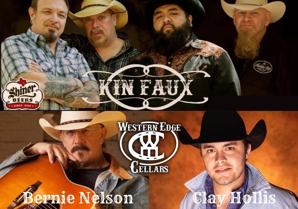 Kin Faux, Bernie Nelson And Clay Hollis
