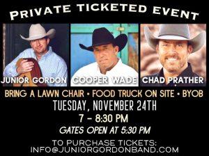Chad Prather, Cooper Wade & Junior Gordon @ Private Venue