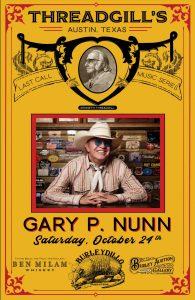 Gary P. Nunn @ Threadgills