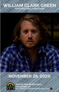 William Clark Green @ White Oak Music Hall - Lawn