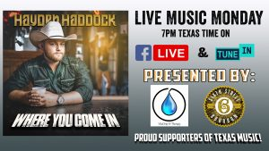 Hayden Haddock - Live Music Monday @ Facebook Live and Tune In
