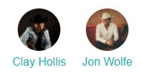 Jon Wolfe with Clay Hollis