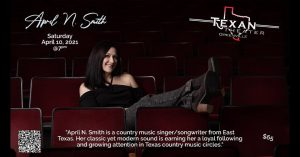 April N Smith VIP Album Release Party @ Texan Theater - Lobby cafe open daily