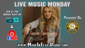 Billie Jo - Live Music Monday @ Facebook Live and Tune in