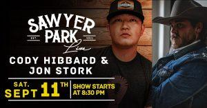 Cody Hibbard and Jon Stork @ Sawyer Park Icehouse